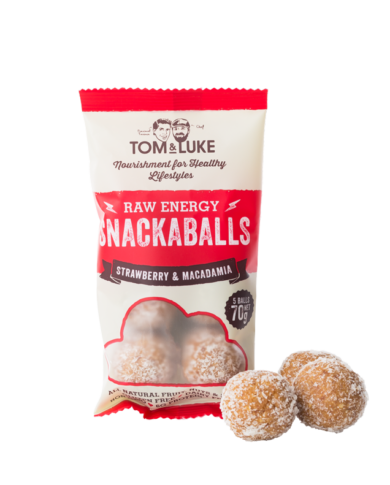 Strawberry & Macadamia Snackaballs